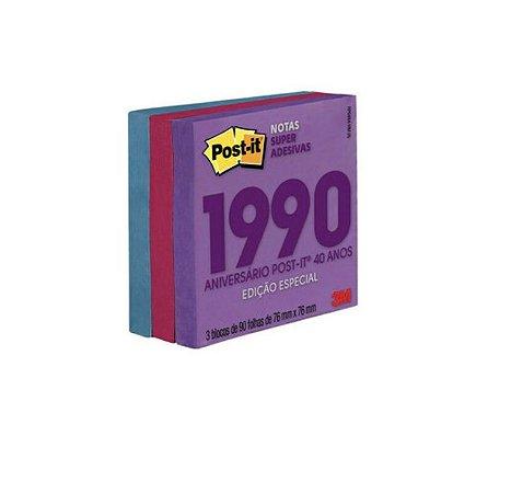 Post-it® Notas Super Adesivas Coleção Anos 90