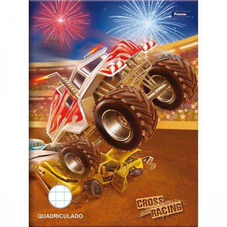 Caderno Pedagógico Quadriculado Cross Racing
