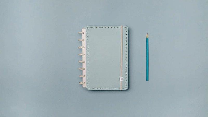 Caderno Inteligente Azul Pastel