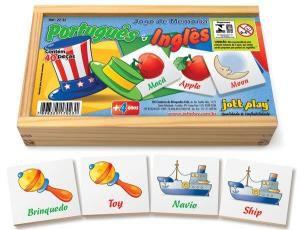 Jogo da Memoria de Portugues / Ingles (40 pecas) - Jott Play