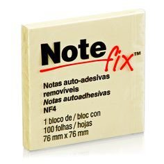 Bloco Adesivo Notefix™ Amarelo - 76mm x 76mm - 100 folhas