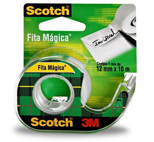 Fita Mágica Scotch® com Suporte 12 mm x 10 m