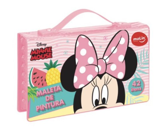MALETA DE PINTURA (42 Itens) Minnie