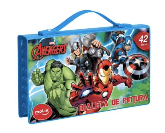 MALETA DE PINTURA (42 itens) Avengers