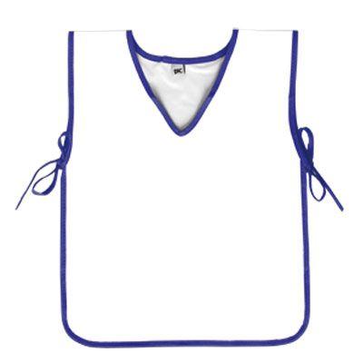 Avental Escolar PVC Branco com Azul DAC