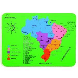 Mapa do Brasil (Borracha E.V.A) - Jott Play