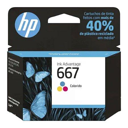 Cartucho de Tinta HP 667 Colorido Advantage Original