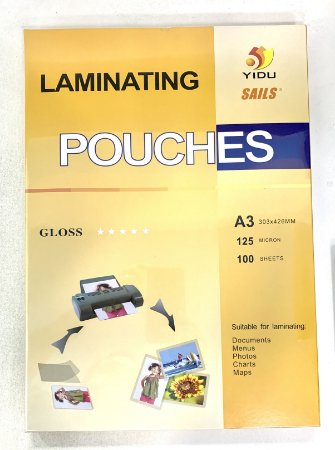 Polaseal Plástico para Encadernação A3 125 micras com 100