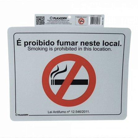 Placa de Sinalização Proibido Fumar
