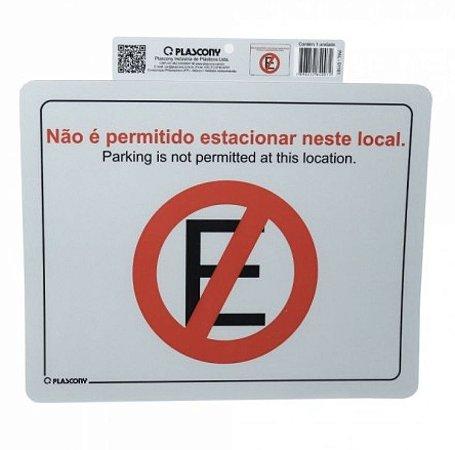 Placa de Sinalização Proibido Estacionar