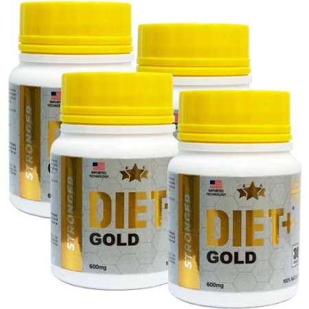 Diet + Gold 30 Cáps - Kit 4 unidades