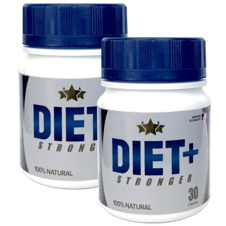 Diet + Stronger 30 cáps - kit 2 potes Diet + Stronger
