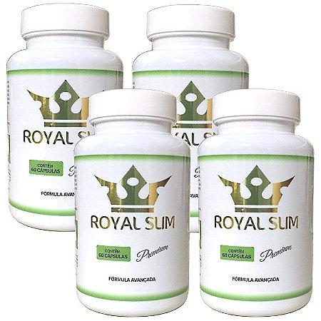 Royal Slim 60 Caps - 4 potes Royal Slim Premium