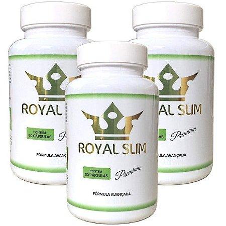 Royal Slim 60 Caps - 3 potes Royal Slim Premium