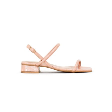 Sandália Salto Baixo com Tiras Finas