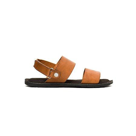 Sandália de Couro Legítimo e Velcro