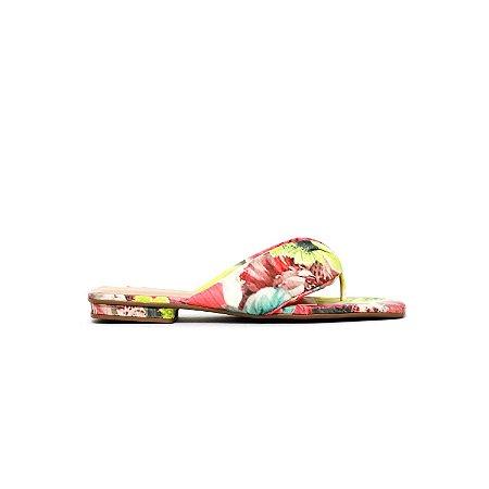 Sandália de Salto Baixo Acolchoada Estampada