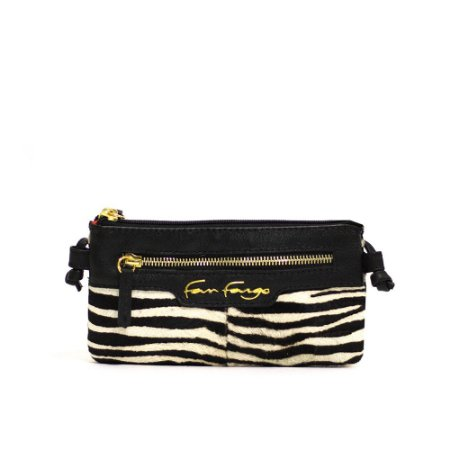 Bolsa de Couro tipo Carteira Zebra