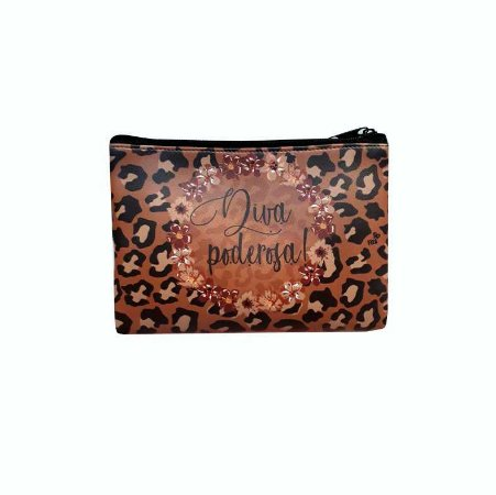 Necessaire carteira - Animal Print