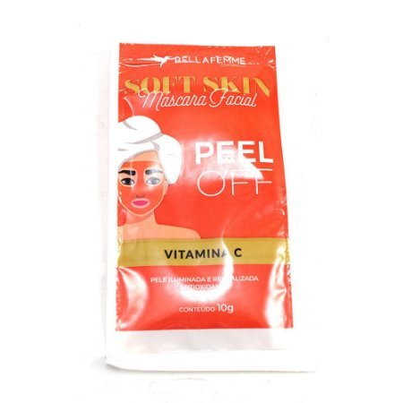 Máscara Facial Peel Off Vitamina C Soft Skin Bella Femme