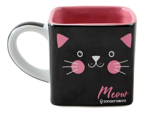 Caneca Cubo Gato Meow 300ml