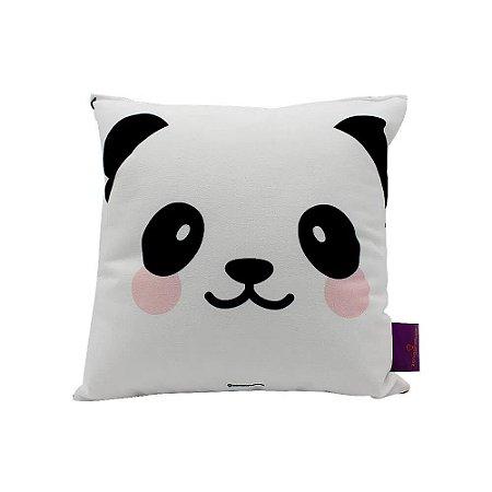 Almofada Fibra Veludo 25x25 Panda