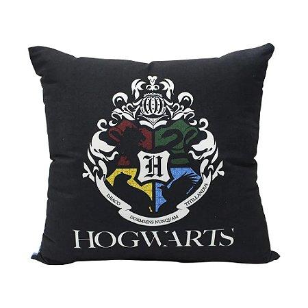 Almofada Fibra Veludo 40x40 Harry Potter Hogwarts