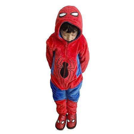 Macacão Kigurumi Infantil Homem Aranha