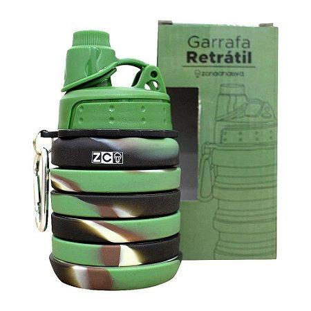 Garrafa Retrátil Camuflado 500ml