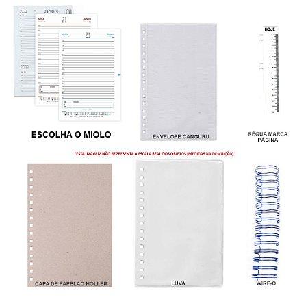 Kit de Agenda 2022 Para Scrapbook Com Holler, Luva & Wire-o