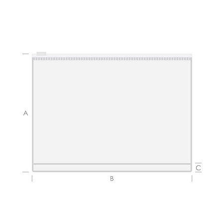 Envelope Canguru com Zíper Para Agendas e Cadernos