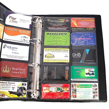 Envelope Cartofilia: Refil Porta Cartões Para Fichário