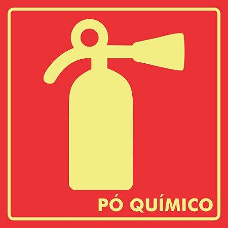 Placa Extintor de incêndio: Pó químico 15x15 cm