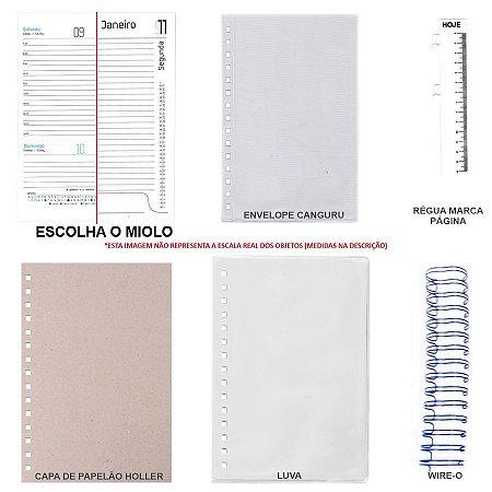 Kit de Agenda 2021 Para Scrapbook Com Holler, Luva & Wire-o
