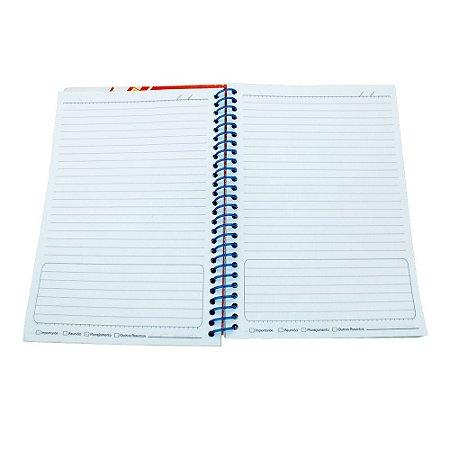 Miolo de Caderno Pautado Medio 16x23 cm 100 folhas