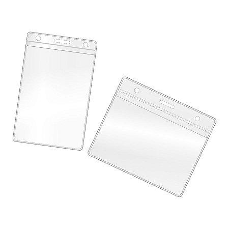 Envelope Protetor para Crachá 7x10 cm Vertical ou Horizontal Pacote de 100 un