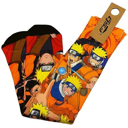 Meia Cano Longo Estampado Naruto Shippuden