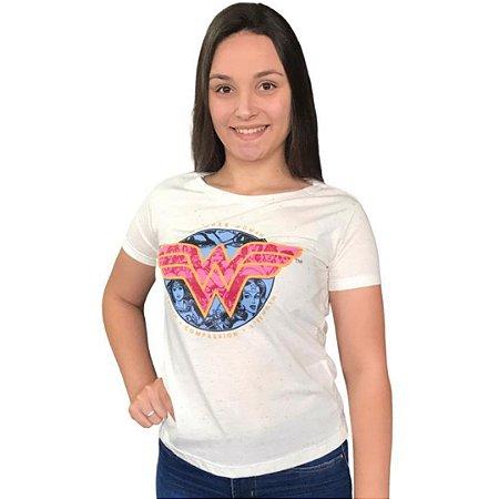 Camiseta Wonder Woman P - Branco Multicolorido