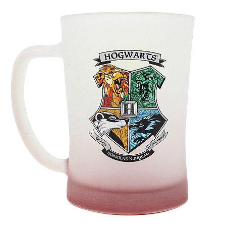 Caneca Chopp Fosca Harry Potter Hogwarts Casas 650ml