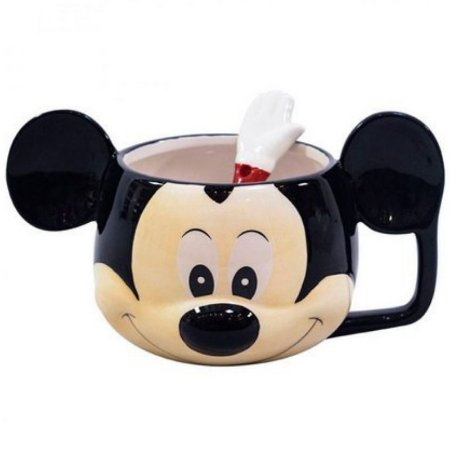 Caneca C/ Colher Mickey Mouse