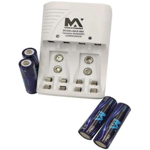 Carregador De Pilha Maxmidia Mod: Max-882