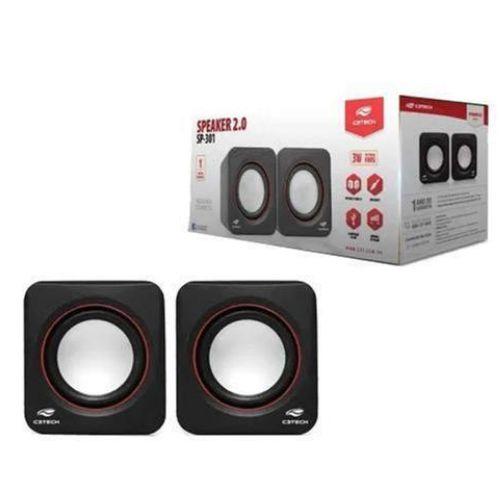Caixa De Som C3tech 3w Rms Mod Sp-301BK