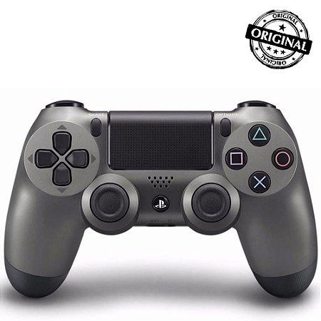 Controle Dualshock 4 PS4 - PlayStation 4 - Preto Metálico Original Sony