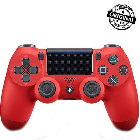 Controle Dualshock 4 PS4 - PlayStation 4 - Vermelho Original Sony