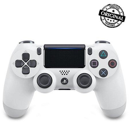 Controle Dualshock 4 PS4 - PlayStation 4 - Branco Original Sony