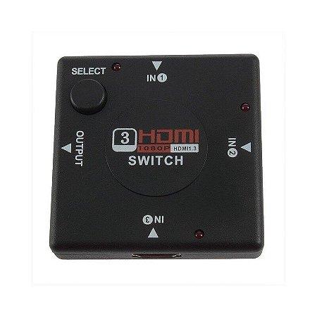 Switch HDMI 1 X 3 Portas 1080p