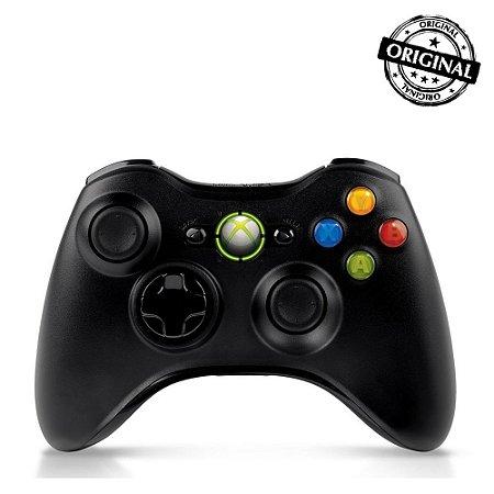 Controle Original Xbox 360 Sem Fio Seminovo