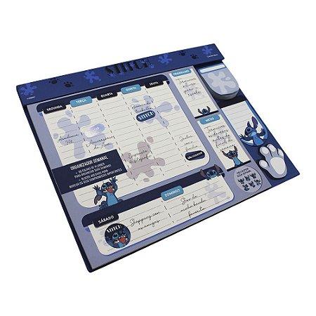 Planner C/Notas 30x24cm Stitch Engraçadinho