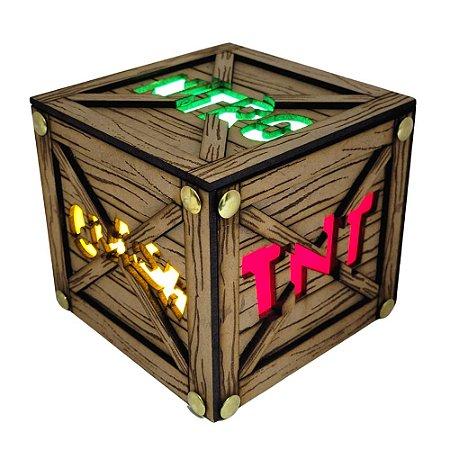 Luminária Cubo 3D Led Crash