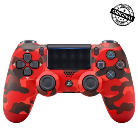 Controle DualShock 4 Vermelho Camuflado - Sony